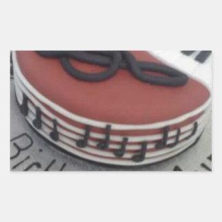 Happy birthday mum cake rectangular sticker