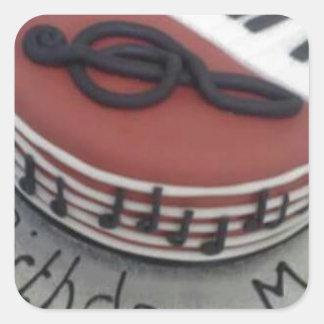 Happy birthday mum cake square sticker