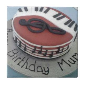 Happy birthday mum cake tile