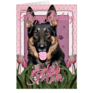 Happy Birthday Mum - German Shepherd - Kuno Greeting Card