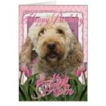 Happy Birthday Mum - Goldendoodle