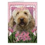 Happy Birthday Mum - Goldendoodle Cards