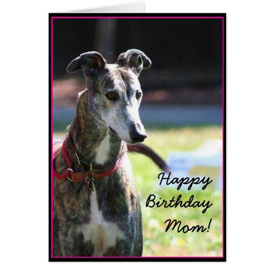 Happy Birthday Mum Greyhound greeting card