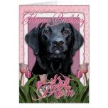 Happy Birthday Mum - Labrador - Black - Gauge Greeting Cards