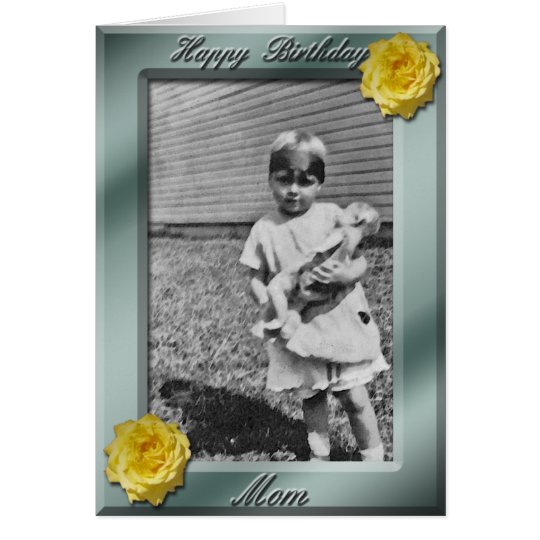 Happy Birthday Mum Photo Card template