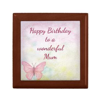 Happy Birthday Mum Small Square Gift Box