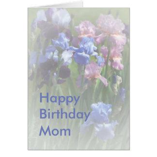 Happy Birthday Mum Summer Iris Template Card