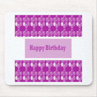 HAPPY Birthday n BLANK easy to add TEXT GREETINGS Mouse Pad