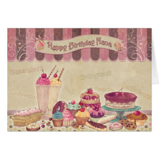 Happy Birthday Nana - Cakes And sweets Card