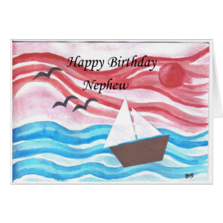 happy birthday nephew greeting card
