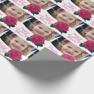 Happy Birthday niece custom rose Wrapping Paper
