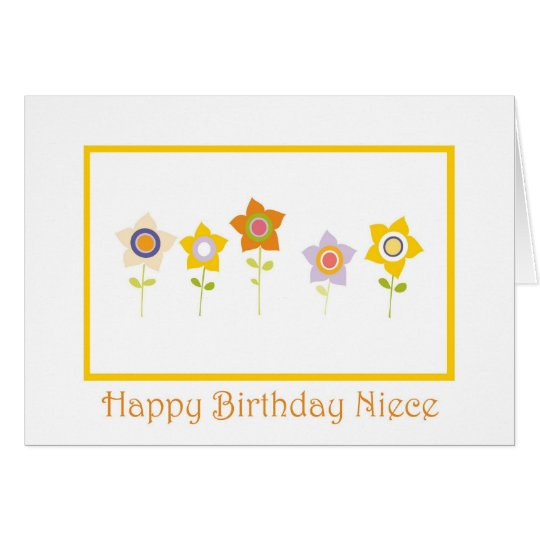 Happy Birthday, Niece, flowers Card