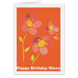 Happy Birthday Niece Greeting Card
