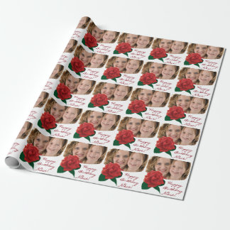 Happy Birthday niece text photo Wrapping Paper