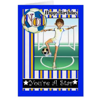 Happy Birthday, No1 Soccer, Football Greeting Card
