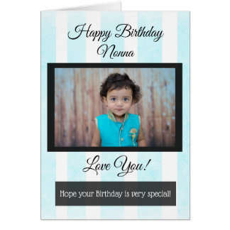 Happy Birthday Nonna Personalized Photo Card