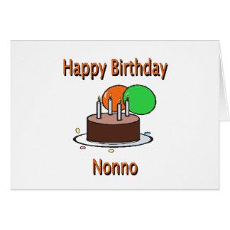 Happy Birthday Nonno Italian Grandpa Birthday Desi Greeting Card