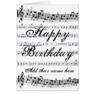 Happy Birthday__ Note Card