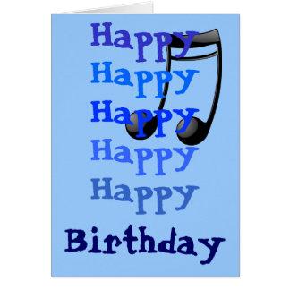 Happy Birthday Note Greeting Card