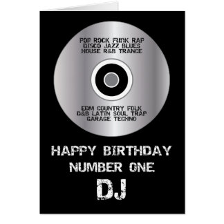Happy Birthday Number 1 DJ Card
