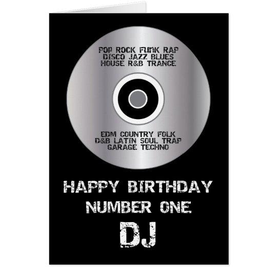 Happy Birthday Number 1 DJ Card