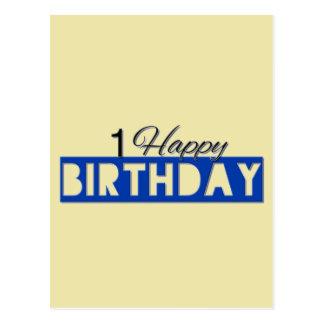 Happy Birthday Number Postcard