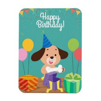 Happy birthday of the dog magnet