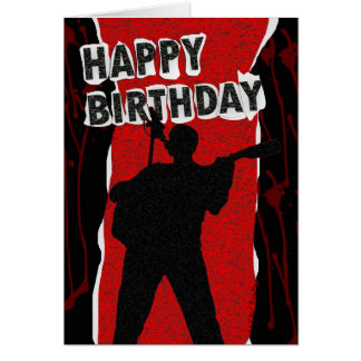 Happy Birthday Old Punk Style Greeting Card