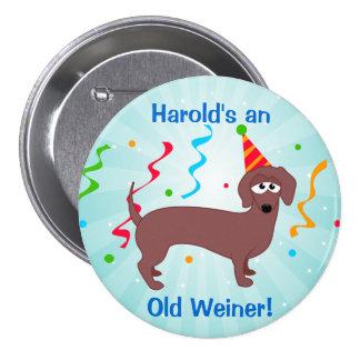 Happy Birthday Old Weiner 7.5 Cm Round Badge