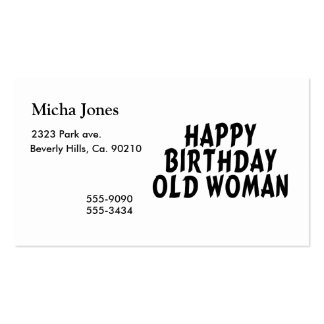 Happy Birthday Old Woman Pack Of Standard Business Cards