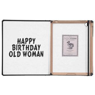 Happy Birthday Old Woman iPad Covers