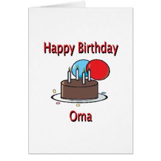 Happy Birthday Oma German Grandma Birthday Design Card