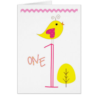 Happy Birthday One Year Old Greeting Card