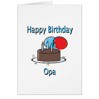Happy Birthday Opa German Grandpa Birthday Design Greeting Card
