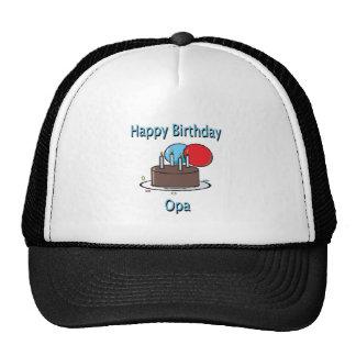 Happy Birthday Opa German Grandpa Birthday Design Hat