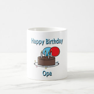 Happy Birthday Opa German Grandpa Birthday Design Coffee Mugs