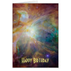 Happy Birthday - Orion Nebula Astronomy Photo Card