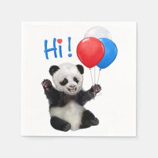 HAPPY BIRTHDAY PANDA DISPOSABLE SERVIETTE