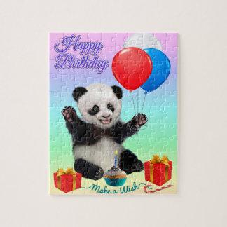 HAPPY BIRTHDAY PANDA PUZZLES