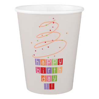 Happy Birthday Paper Cup