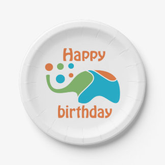 Happy birthday-Paper Plates 7 in