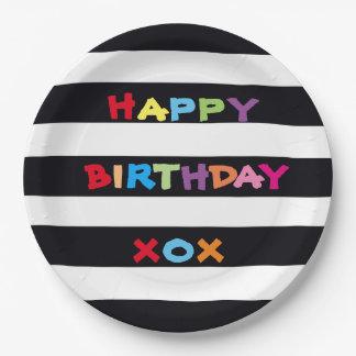 Happy Birthday Paper Plates 9 inch