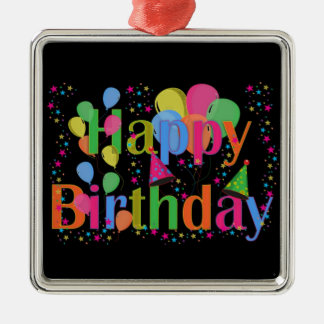 Happy Birthday Party Balloons Christmas Ornament