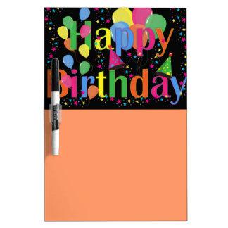 Happy Birthday Party Balloons Dry Erase Board