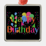 Happy Birthday Party Balloons Ornament