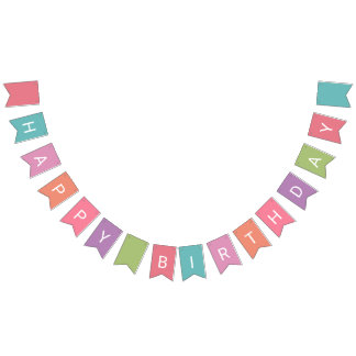 """Happy Birthday"" party bunting banner"