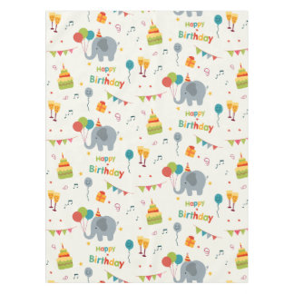 Happy birthday party print tablecloth