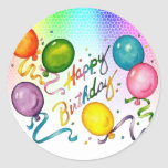 Happy Birthday Party Stickers
