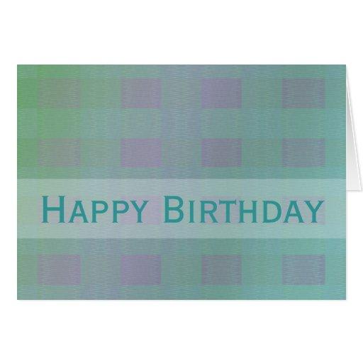 Happy Birthday Pastel Teal Greeting Cards