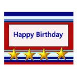 Happy Birthday Patriotic Postcard